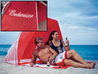 Camping Tent - Beach Budweiser