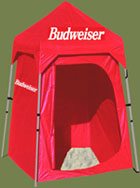 Custom Tent - Privacy Shelter Budweiser