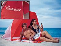 Custom Tent Manufacturing - Beach Budweiser